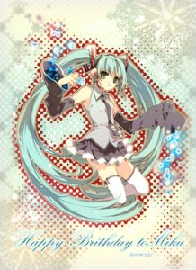 Rating: Safe Score: 8 Tags: chry hatsune_miku thighhighs vocaloid User: charunetra