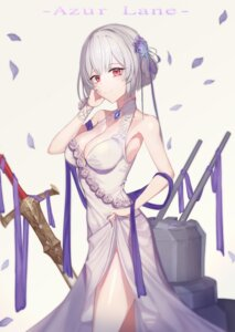 Rating: Safe Score: 63 Tags: azur_lane cleavage dress reikrand sirius_(azur_lane) skirt_lift sword User: charunetra