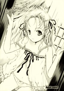 Rating: Questionable Score: 14 Tags: lingerie loli monochrome pantsu shiawase_1500 User: petopeto