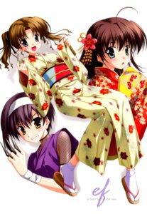 Rating: Safe Score: 9 Tags: ef_~a_fairytale_of_the_two~ hayama_mizuki kimono miyamura_miyako nanao_naru ninja shindou_kei User: vita