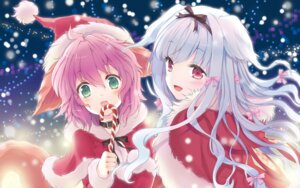 Rating: Safe Score: 50 Tags: animal_ears christmas cuteg lily_(w&l) tail wallpaper wanko wanko_to_lily User: androgyne