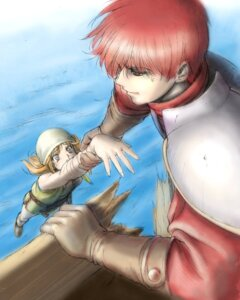 Rating: Safe Score: 6 Tags: adol_christin armor bandages sketch taue_shunsuke terra_(ys) ys ys_vi User: Radioactive