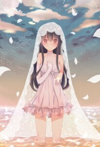 Rating: Questionable Score: 45 Tags: dress hatsushimo_(kancolle) kanae_nagiki kantai_collection see_through wedding_dress wet User: Mr_GT
