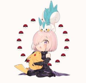 Rating: Safe Score: 20 Tags: armor chibi crossover fate/grand_order mash_kyrielight pachirisu pikachu pokemon sino42 User: lukarin