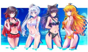 Rating: Safe Score: 35 Tags: bikini blake_belladonna cleavage garter iesupa ruby_rose rwby swimsuits weiss_schnee wet yang_xiao_long User: Spidey