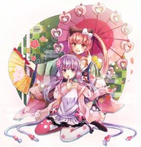 Rating: Safe Score: 37 Tags: cleavage dress heels hello_kitty kimono nekomura_iroha pantyhose suisetsu_mizuna umbrella vocaloid yuzuki_yukari User: KazukiNanako
