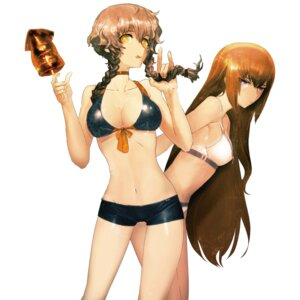 Rating: Safe Score: 100 Tags: amane_suzuha bikini cleavage huke makise_kurisu steins;gate swimsuits User: demonbane1349