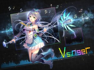 Rating: Questionable Score: 28 Tags: heels luo_tianyi tattoo thighhighs tid vocaloid User: Mr_GT