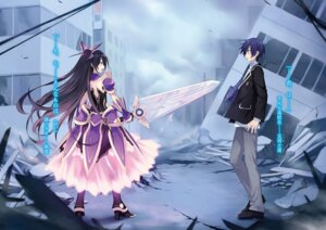 Rating: Safe Score: 32 Tags: armor date_a_live dress heels itsuka_shidou seifuku sword tsunako yatogami_tooka User: kiyoe