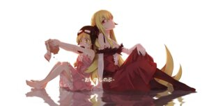 Rating: Safe Score: 54 Tags: cleavage dress lf monogatari_(series) no_bra oshino_shinobu User: Noodoll