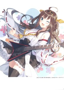 Rating: Questionable Score: 27 Tags: guitar kantai_collection kongou_(kancolle) rie thighhighs User: Radioactive
