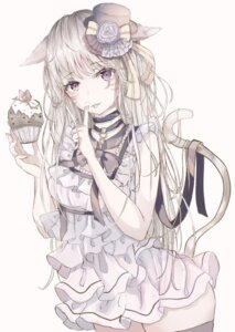Rating: Safe Score: 28 Tags: animal_ears dress final_fantasy final_fantasy_xiv miqo'te sakura_mochiko tail thighhighs User: BattlequeenYume