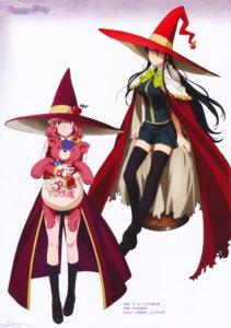 Rating: Safe Score: 32 Tags: hiyamizu_yukie kagari_ayaka seifuku takamiya_kasumi thighhighs witch witch_craft_works User: Radioactive