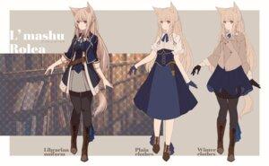 Rating: Safe Score: 24 Tags: animal_ears character_design pantyhose sagiri_(ulpha220) tail uniform User: Dreista