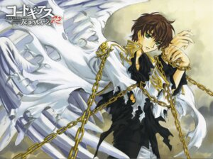 Rating: Safe Score: 13 Tags: clamp code_geass kururugi_suzaku male screening User: Aurelia