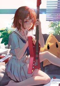 Rating: Safe Score: 36 Tags: bang_dream! guitar seifuku tengyuan_pa_pa_zi toyama_kasumi User: saemonnokami