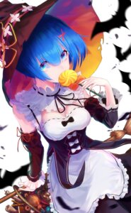 Rating: Questionable Score: 15 Tags: cleavage halloween huskk maid re_zero_kara_hajimeru_isekai_seikatsu rem_(re_zero) witch User: yanis