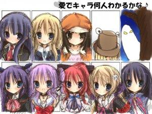 Rating: Safe Score: 17 Tags: baka_to_test_to_shoukanjuu bakemonogatari chargeman_ken! flyable_heart inui_sana iori_(pixiv539579) kirishima_shouko koiiro_soramoyou k-on! kotobuki_tsumugi little_busters! mashiroiro_symphony mihama_hitsuji moriya_suwako natsu_yume_nagisa sasasegawa_sasami sengoku_nadeko shinohara_sera shirasagi_mayuri touhou User: Radioactive