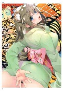 Rating: Questionable Score: 42 Tags: animal_ears ass kimono marushin nopan toranoana User: abcdefh