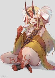 Rating: Safe Score: 24 Tags: bandages fate/grand_order feet horns ibaraki_douji_(fate/grand_order) pointy_ears tattoo yukihama User: nphuongsun93
