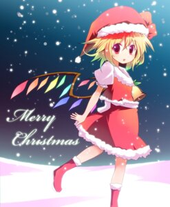 Rating: Safe Score: 15 Tags: bell_(satappe) christmas flandre_scarlet touhou wings User: charunetra