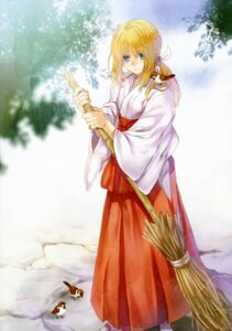 Rating: Safe Score: 9 Tags: fate/stay_night miko saber tenkuu_sphere type-moon User: Aurelia