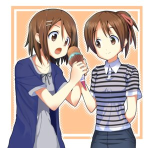 Rating: Safe Score: 10 Tags: hirasawa_ui hirasawa_yui k-on! masamuu User: Riven
