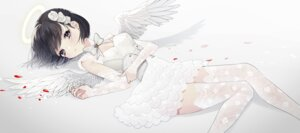 Rating: Safe Score: 27 Tags: angel cleavage dress naomasap thighhighs wings User: BattlequeenYume