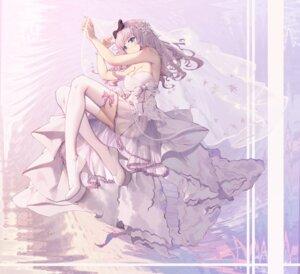 Rating: Safe Score: 84 Tags: asa_ni_haru cleavage dress fujiwara_chika heels kaguya-sama_wa_kokurasetai_~tensai-tachi_no_renai_zunousen~ see_through thighhighs wedding_dress User: Mr_GT