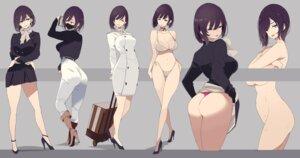 Rating: Questionable Score: 56 Tags: ass bikini breast_hold business_suit censored cleavage heels megane mikoto_akemi naked pantsu skirt_lift swimsuits thong wet User: saemonnokami
