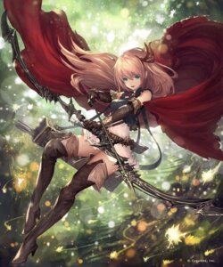 Rating: Safe Score: 67 Tags: arisa_(shadowverse) dress heels jpeg_artifacts pointy_ears shadowverse tachikawa_mushimaro thighhighs weapon User: Mr_GT