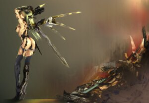 Rating: Questionable Score: 49 Tags: gun kawanakajima mecha_musume stockings thighhighs wings User: blooregardo