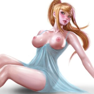 Rating: Questionable Score: 82 Tags: breasts lingerie metroid nipples no_bra sakimichan samus_aran see_through User: charunetra