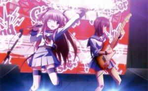 Rating: Safe Score: 20 Tags: angel_beats! guitar hashimoto_hiroyuki iwasawa seifuku yui_(angel_beats!) User: Jigsy