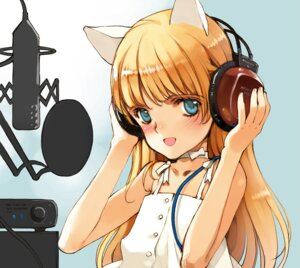 Rating: Safe Score: 14 Tags: animal_ears dress ema_(shirotsume_souwa) headphones littlewitch nekomimi oyari_ashito shirotsume_souwa summer_dress User: petopeto