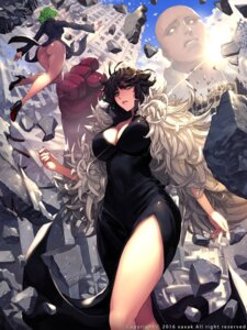 Rating: Questionable Score: 73 Tags: ass cleavage dress fubuki_(one_punch_man) heels nopan one_punch_man saitama tatsumaki_(one_punch_man) xaxak User: Mr_GT