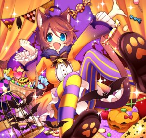 Rating: Safe Score: 15 Tags: animal_ears dress halloween nekomimi pantyhose sakura_chiyo_(konachi000) tail User: charunetra