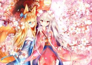 Rating: Safe Score: 48 Tags: animal_ears g41_(girls_frontline) girls_frontline kar98k_(girls_frontline) kimono tail umbrella yoko_(yang-tzu) User: Mr_GT