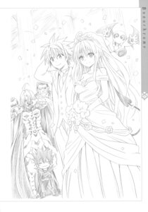 Rating: Safe Score: 32 Tags: armor dress gid_lucion_deviluke lala_satalin_deviluke megane monochrome peke sketch tail to_love_ru to_love_ru_darkness wedding_dress yabuki_kentarou yuuki_rito zastin User: Twinsenzw