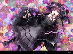 Rating: Safe Score: 32 Tags: dress gothic_lolita kona lolita_fashion wallpaper User: blooregardo