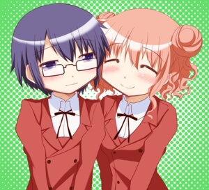 Rating: Safe Score: 7 Tags: hidamari_sketch hiro kairakuen_umenoka sae User: Radioactive