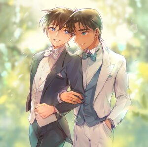 Rating: Safe Score: 6 Tags: business_suit detective_conan hattori_heiji joypyonn kudou_shinichi male User: charunetra