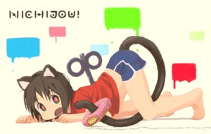 Rating: Safe Score: 33 Tags: animal_ears nekomimi nichijou nishimura_(prism_engine) shinonome_nano tail User: Mr_GT