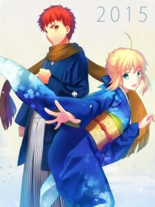 Rating: Safe Score: 42 Tags: emiya_shirou fate/stay_night saber yukata User: WAckira