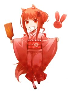 Rating: Safe Score: 12 Tags: animal_ears ayakura_juu holo kimono spice_and_wolf tail User: Radioactive