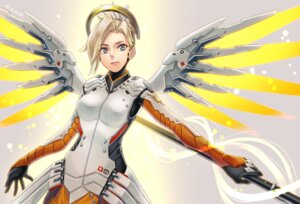 Rating: Safe Score: 8 Tags: bodysuit mercy_(overwatch) overwatch wedo wings User: animeprincess