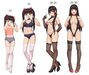 Rating: Questionable Score: 69 Tags: bra cameltoe cleavage erect_nipples heels leotard lingerie loli mool_yueguang no_bra nopan pantsu thighhighs User: 515576745