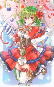 Rating: Safe Score: 33 Tags: christmas dress garter kazami_yuuka shironeko_yuuki thighhighs touhou umbrella User: Mr_GT