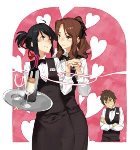 Rating: Safe Score: 23 Tags: 92m kimi_no_na_wa miyamizu_mitsuha tachibana_taki waitress yuri User: Radioactive