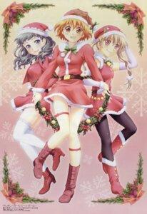 Rating: Safe Score: 17 Tags: christmas garter iwasa_tomoko kamiizumi_yasuna kashimashi kurusu_tomari osaragi_hazumu pantyhose thighhighs User: Radioactive
